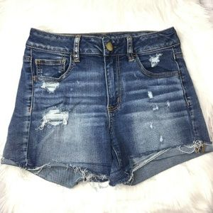 American Eagle Outfitters Hi rise shortie size 4